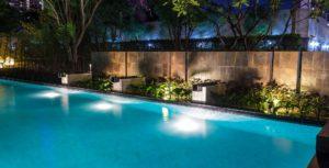 pool lighting, pool electrical